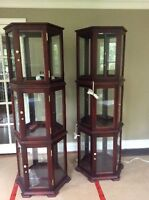 Mint condition display cabinets