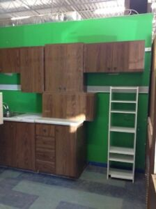 Cabinets uppers and lowers
