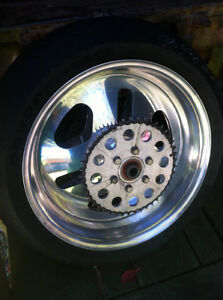 GSXR 750 90-91 PERFORMANCE MACHINE REAR WHEEL