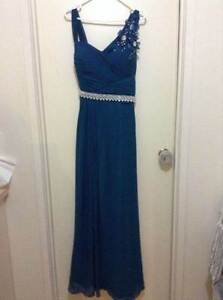 BRAND NEW Size 12 Ladies Formal Dress teal diamonties wedding Edens Landing Logan Area Preview