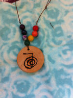 Wood Essential oil Diffuser necklaces