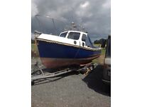 Romany 21 fishing boat with trailer