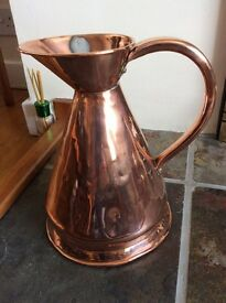 Royal Navy All-Copper Measuring Pitcher / jug (Rum Ration: A bit of British History)