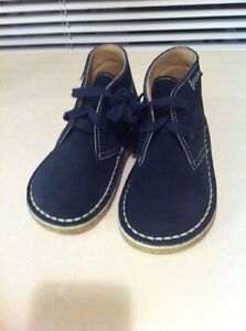 Naturino Navy Suede Boots Euro Size 23 Made in Italy