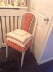 Shabby chic chair and cushions