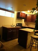 1 bdrm basemnt suite NW, Walk to train
