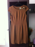 TAYLOR BROWN EMBELLISHED GORGEOUS DRESS, NEW, SZ.6
