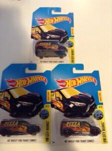 3 hot wheels Ford transit connect treasure hunt VERY RARE