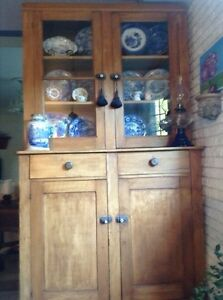 Antique Stepback Armoire