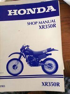 1983 Honda XR350R Shop Manuall Regina Regina Area image 1
