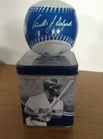 CARLOS DELGADO BLUE JAYS AUTOGRAPHED BASEBALL AND CASE