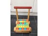 Toddler wooden walker