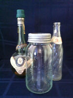 Vintage Bottles and Jar