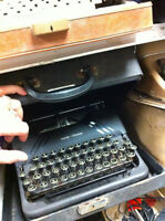 assorted vintage and antique typewriters just arrived