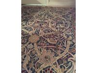 William Morris designed fabric wall covering or floor mat