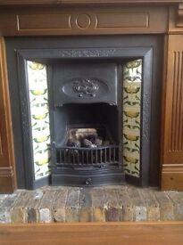 Fireplace original cast iron