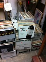 records,vinyl,45's, 33's, 78's  all kinds 40 boxes