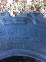 Atv tires no rims 40$ obo