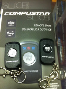CompuSTAR SLICE 2 Way 1-Button LED Remote Kit-RF 2000' Range new