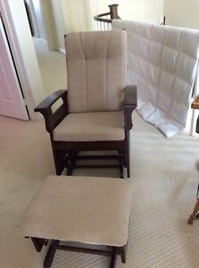 Glider Rocker with gliding foot stool