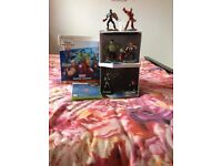 Disney Infinity starter pack for xbox 360 and extra figures and storage tower