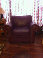 Leather Chair and matching Sofa