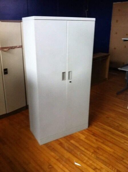 Heavy Duty Lockable 5 Tier Large Metal Cupboard GREY