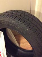 used one season only!!! Set of all season continental tires.