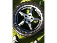 "4 x 17"" Dotz Touge Graphite Alloy Wheels- used in very good condition - Ford 5x108"