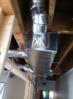 Complete ductwork top to bottom.