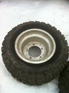 ATV 5 BOLT DID WHEELS WITH STUDDED TIRES FOR ICE Windsor Region Ontario image 2