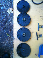 YAMAHA YS624 SNOW BLOWER WHEEL COGS CABLE COVER AND SHOOT SHAFT