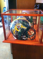 Autographed Football and Helmet