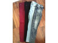 Topshop & River Island Jeans UK10