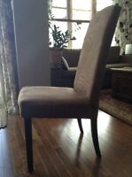 Microsuede Parsons Chairs