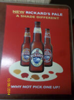 2001/2002 Rickards Red Beer Signs