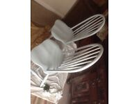 Kitchen/dinning room chairs,handpainted in pale blue over wooden chair