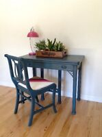 STUNNING Antique Desk That Converts Into Dining Room Table