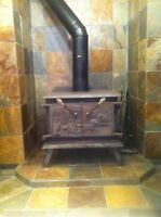 Cast iron wood burning stove ideal for chalet