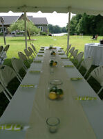 Barbeque Wedding Decor- table runners