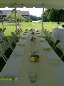 Barbeque Wedding Decor- table runners London Ontario image 1