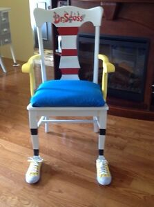 Dr Seuss chair and lamp
