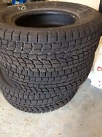 Used tires, 16 in. 245 wide