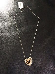 White Gold Heart Chain