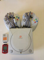 Sega Dreamcast with 2 controllers