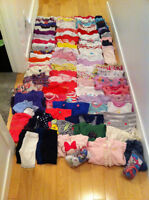 Lot of Girls Clothing From 12 to 24 months