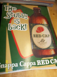 Brick Red Cap Beer in Stubbies, Sign Windsor Region Ontario image 1
