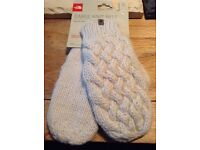 The North Face cable knit mittens - vaporous grey (large/extra large)