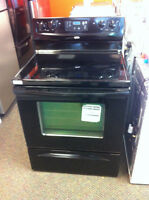 BLACK WHIRLPOOL FLAT TOP STOVE