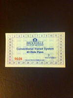 I am selling a 40 ride pass for the Brockville transit system